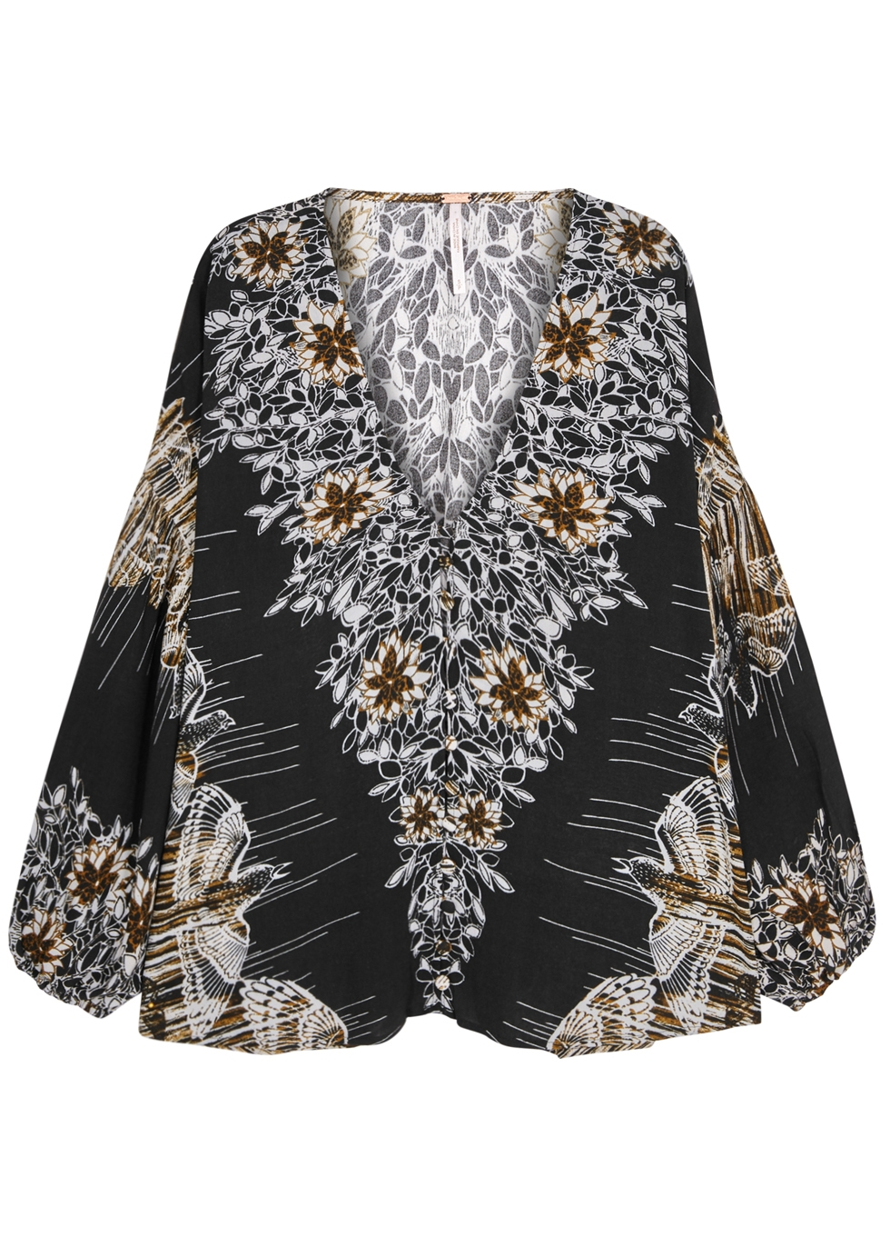 BIRDS OF A FEATHER RAYON TOP