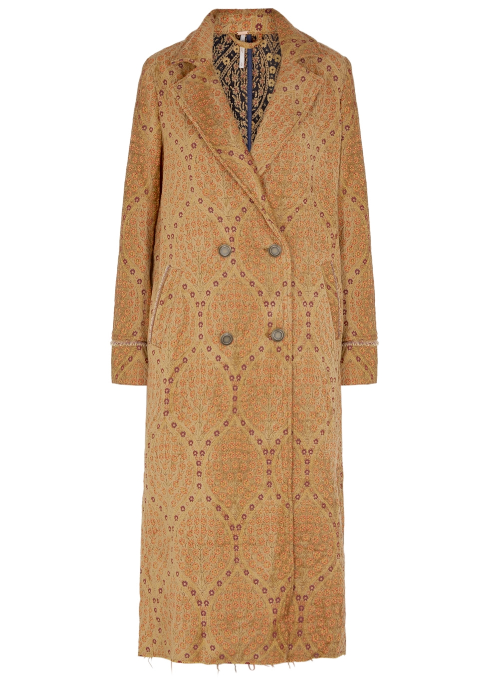 FREE PEOPLE OUT ALL NIGHT BROCADE COAT