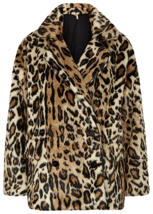 a8188a85d341 Free People Kate leopard-print faux fur coat - Harvey Nichols