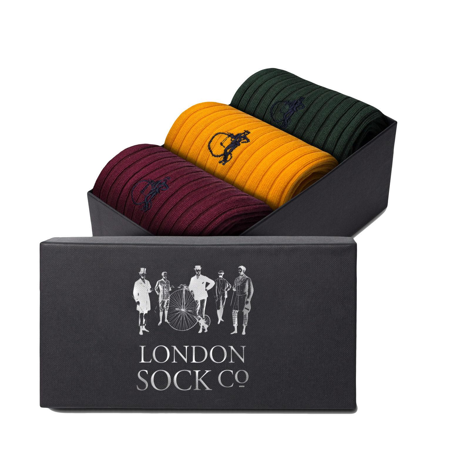 LONDON SOCK COMPANY Simply Dapper 3 Pair Gift
