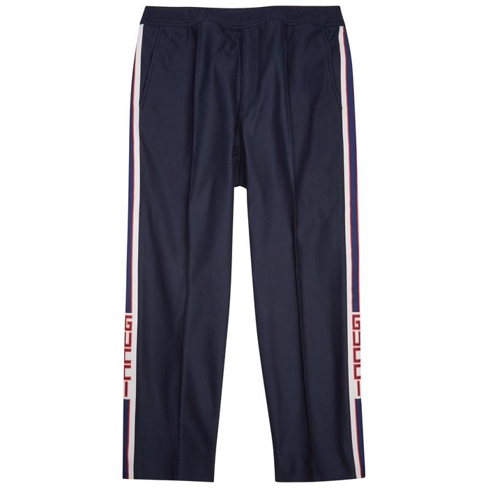 Gucci Logo-print Piqué Cotton Trousers