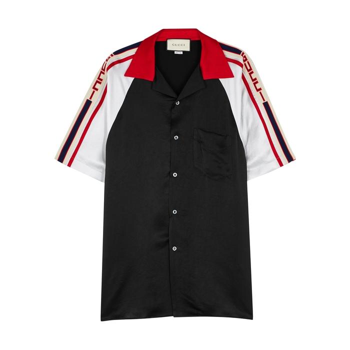 Gucci Black Satin Shirt