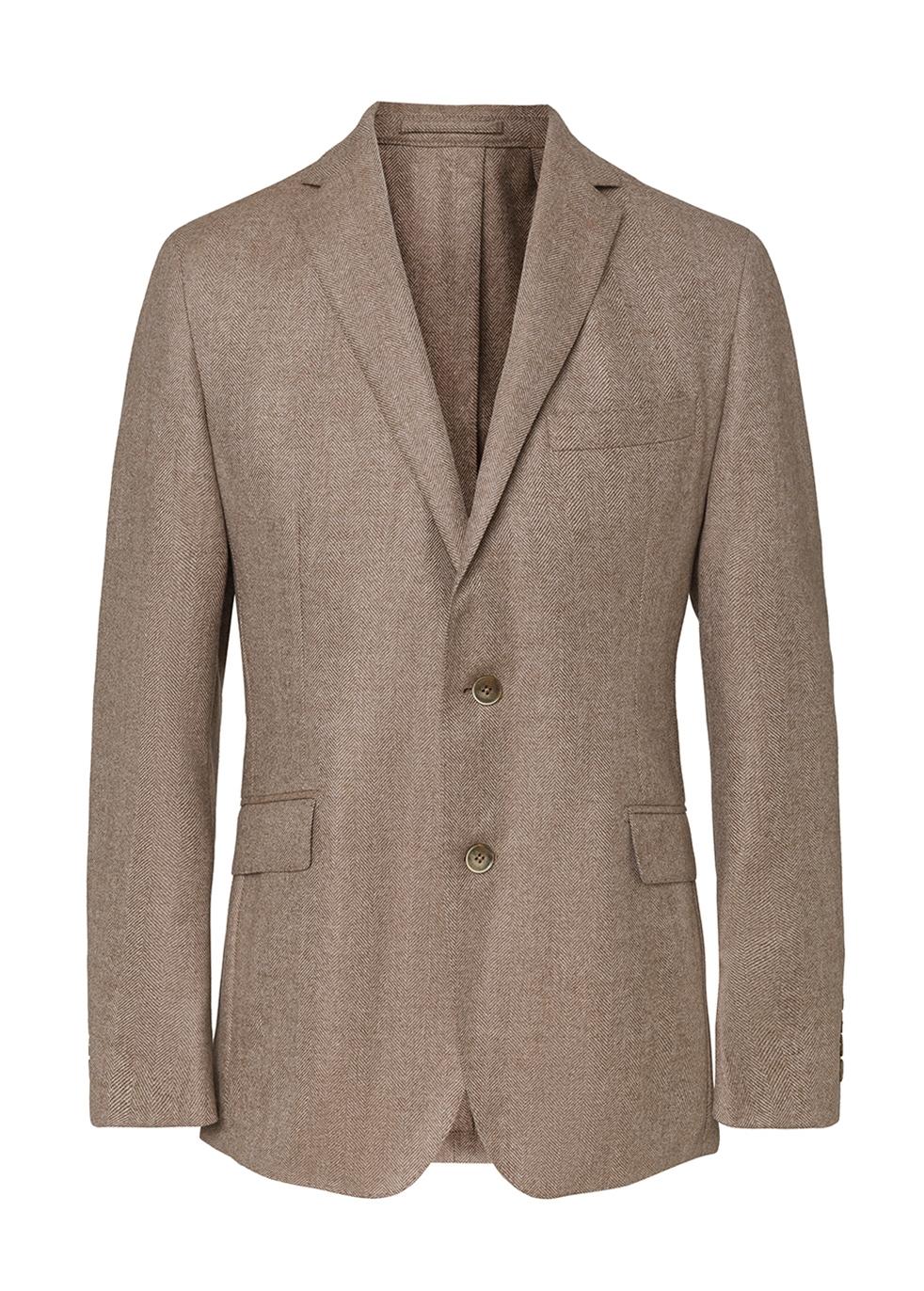 HACKETT | Hackett Wool And Cashmere-blend Herringbone Blazer | Goxip
