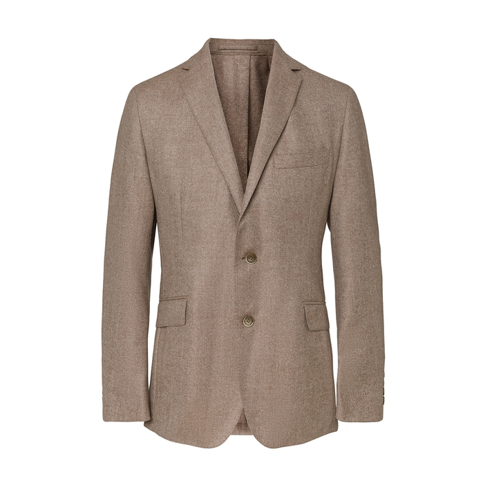 HACKETT | Hackett Wool And Cashmere-blend Herringbone Blazer | Goxip