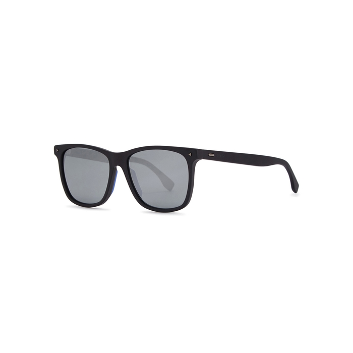 2e0afc2232e Fendi Black Wayfarer-Style Sunglasses