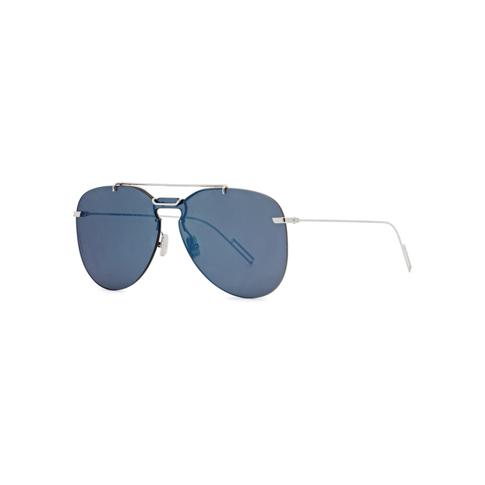 Dior Homme Blue Mirrored Aviator-style Sunglasses