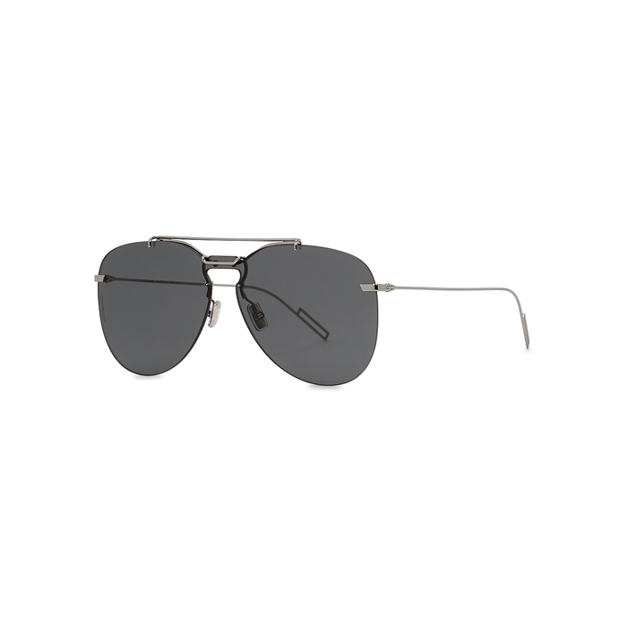 Dior Homme Sunglasses GUNMETAL AVIATOR-STYLE SUNGLASSES