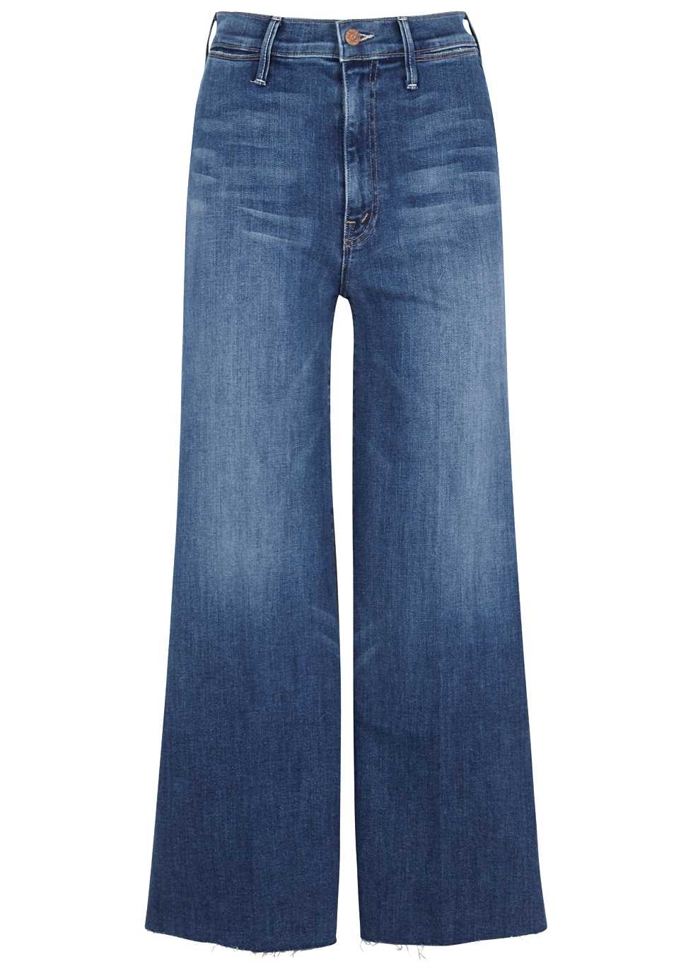 THE SWOONER ROLLER CROPPED WIDE-LEG JEANS