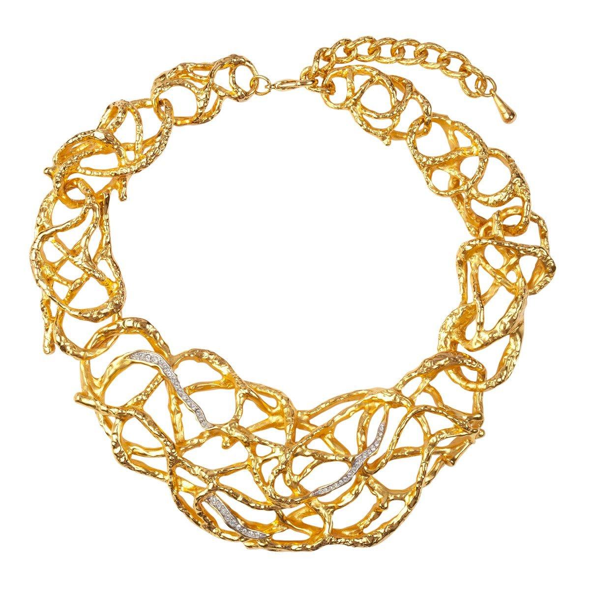 1990S Vintage Elizabeth Taylor Vine Swarovski Crystal Necklace in Metallic