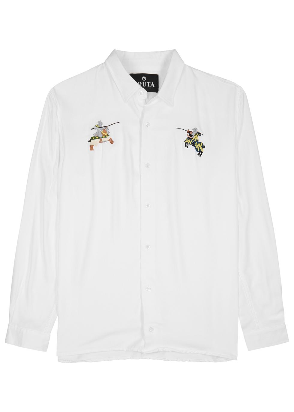 BRUTA Joust White Twill Shirt