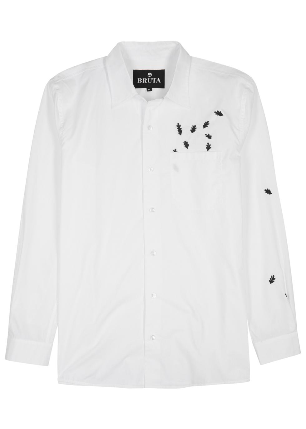 BRUTA Nipperkin White Cotton Shirt