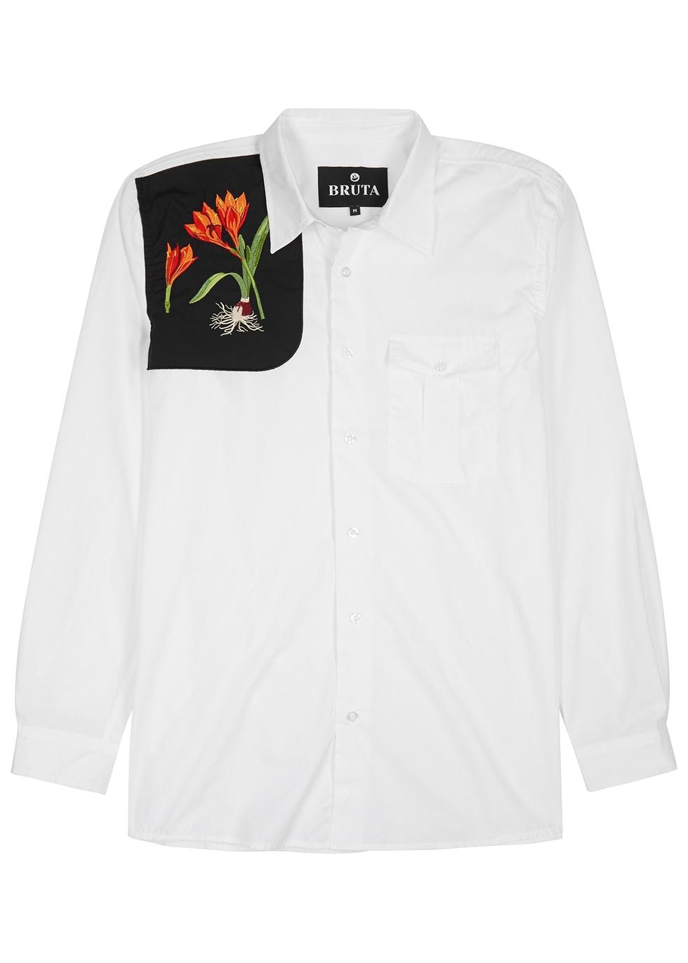 BRUTA Scarborough Lily White Cotton Shirt