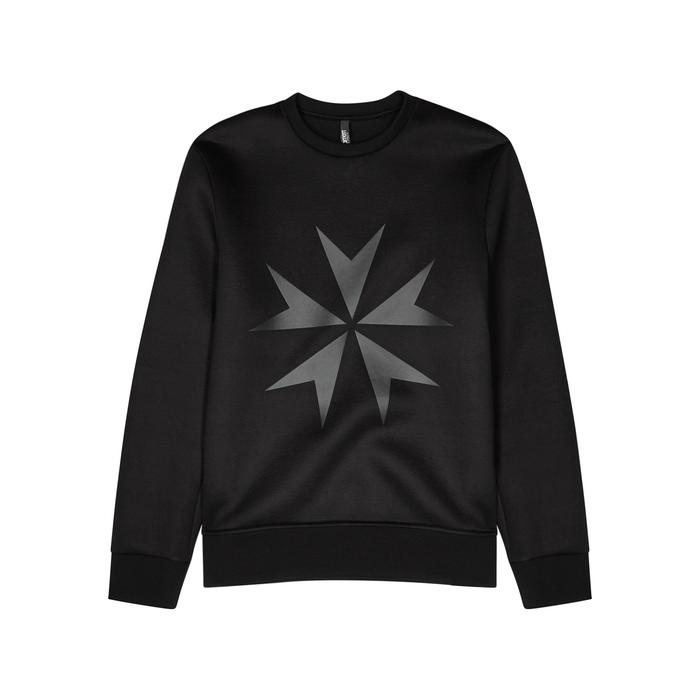 Neil Barrett Military Cross Stretch-neoprene Sweatshirt