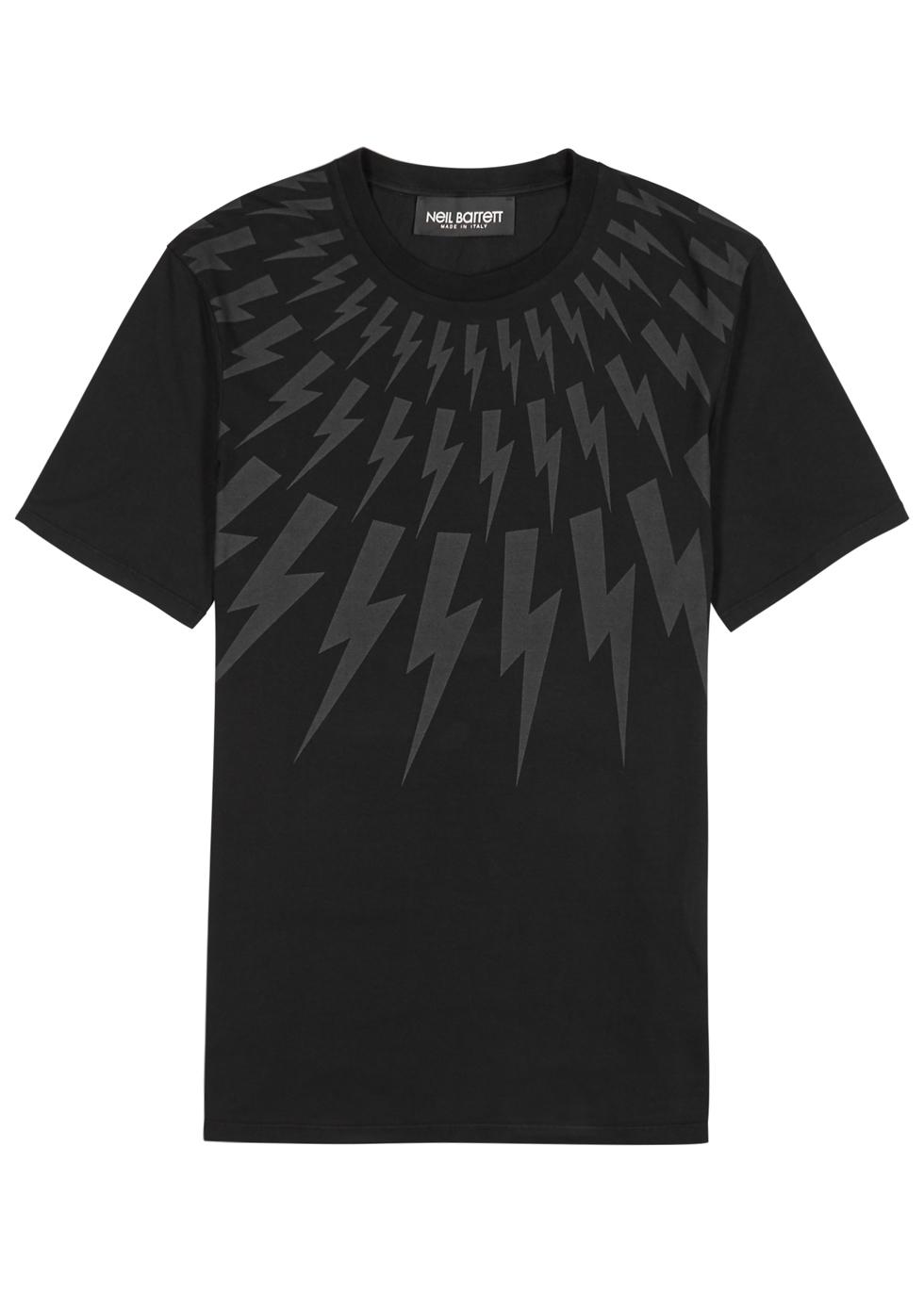 Printed Shirt Black T Stretch Cotton XOdaq
