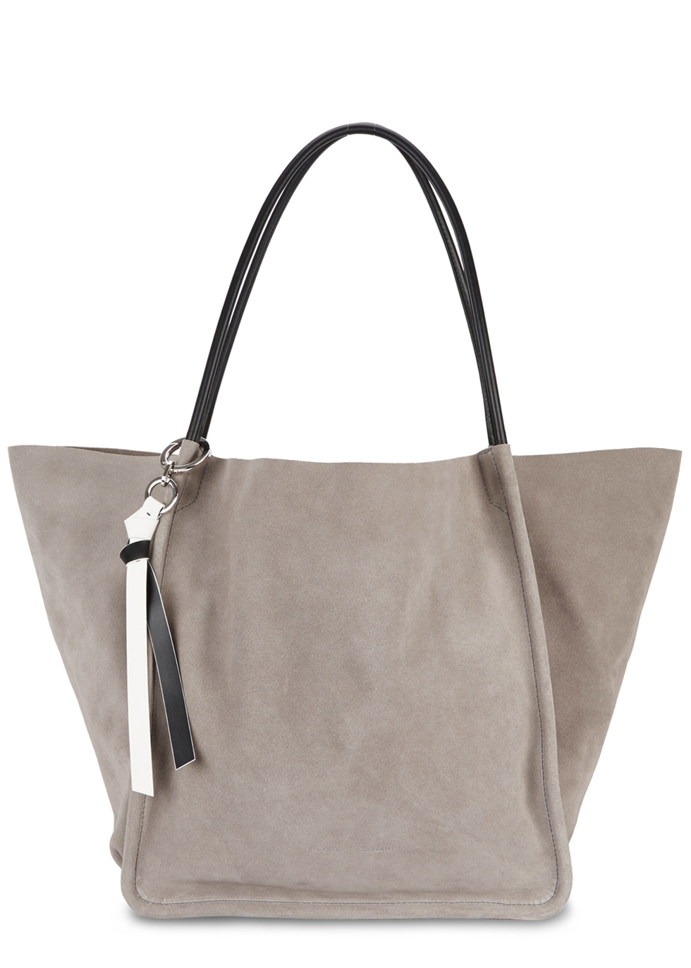 EXTRA LARGE LIGHT TAUPE SUEDE TOTE
