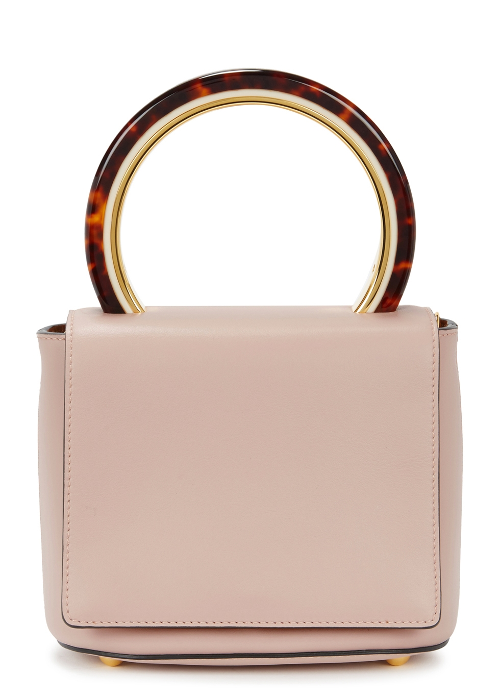 Pannier Small Blush Leather Tote, Rose