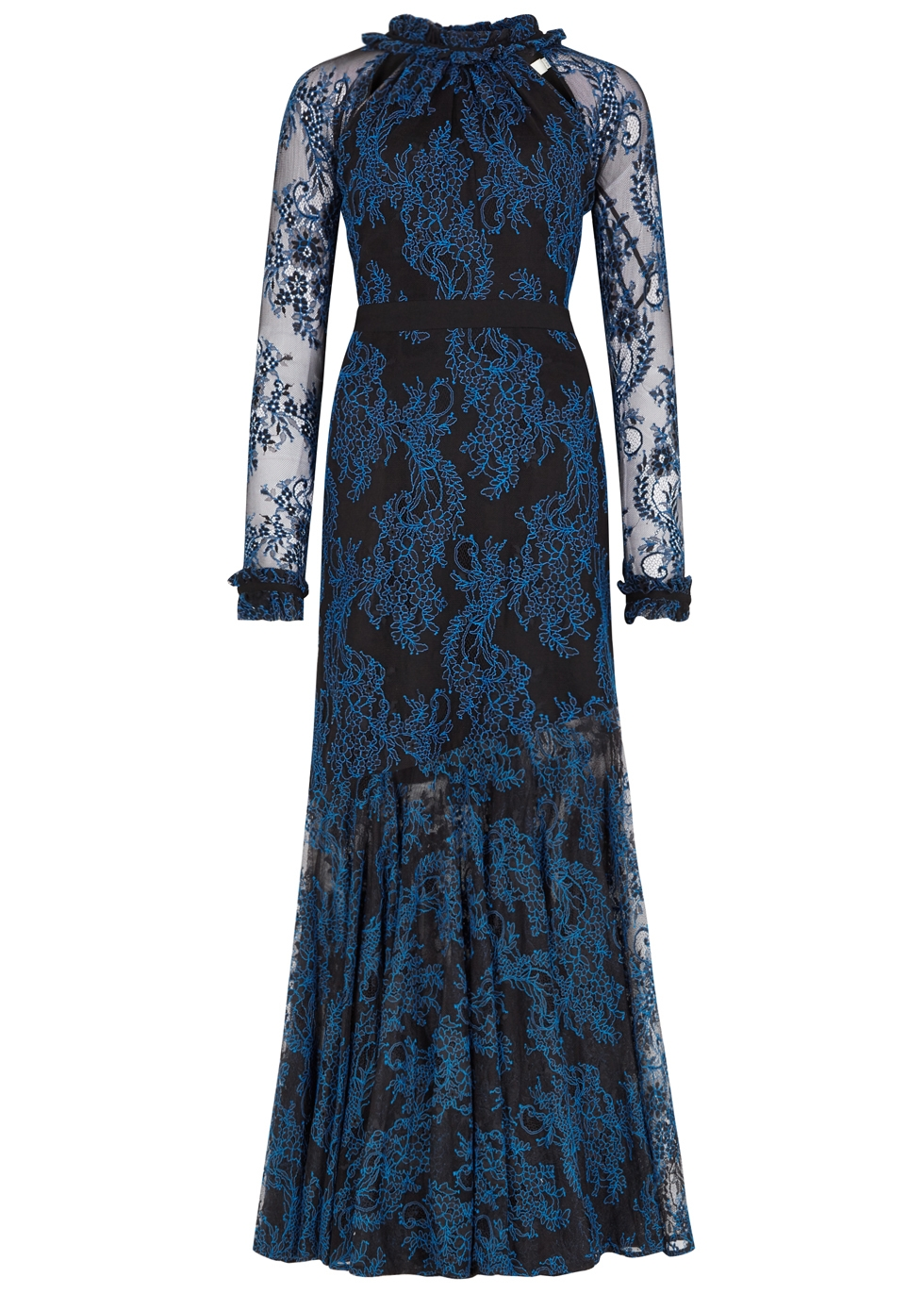 THREE FLOOR REALEZA EMBROIDED LACE GOWN