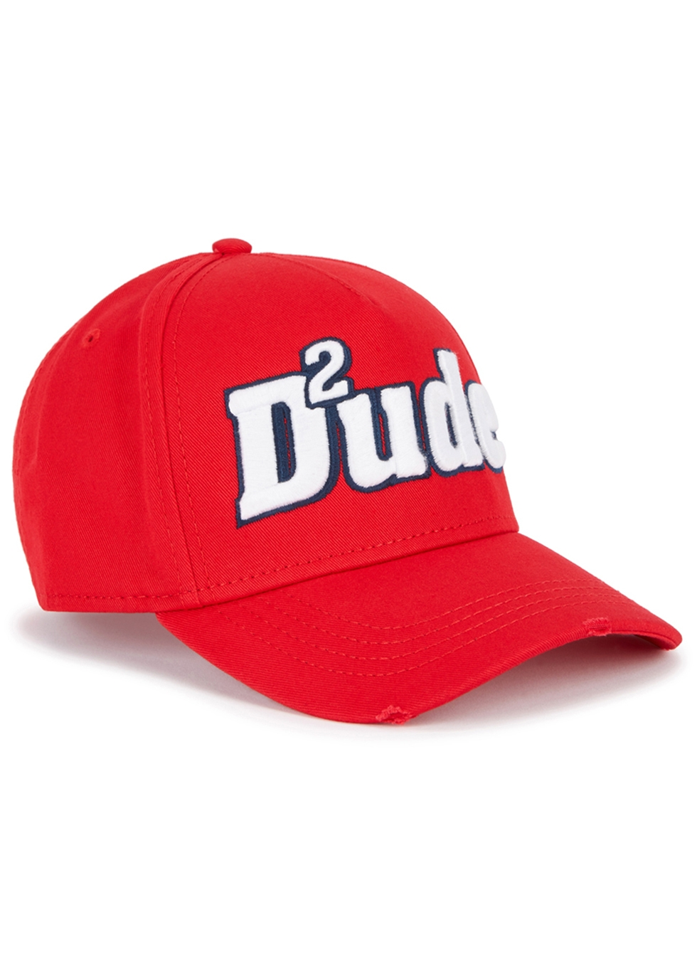DSQUARED2 DUDE EMBROIDERED TWILL CAP
