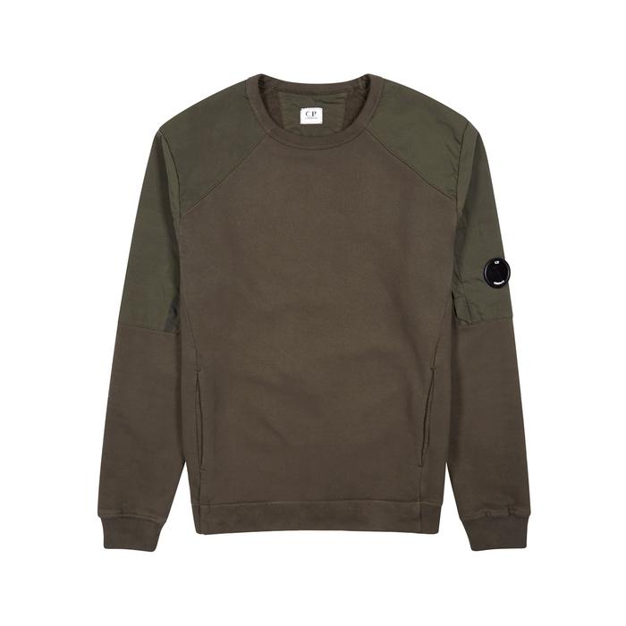 C.P. Company Dark Green Cotton Sweatshirt
