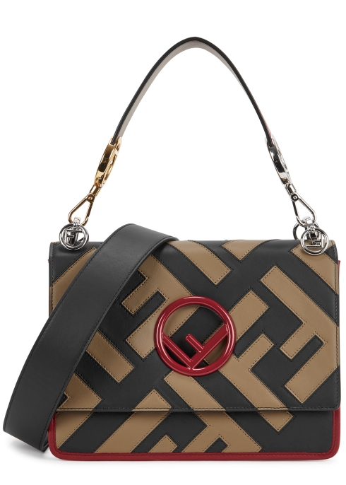6e2b4d27fb29 Fendi Kan I large leather shoulder bag - Harvey Nichols