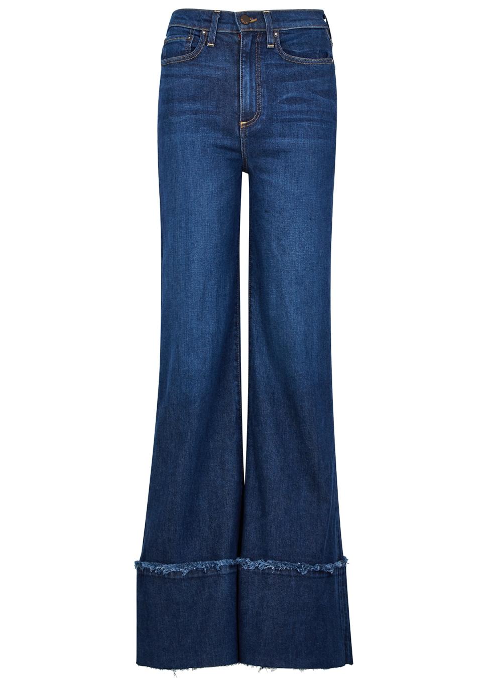 AO.LA Ao. La So Clever Blue Wide-Leg Jeans in Denim