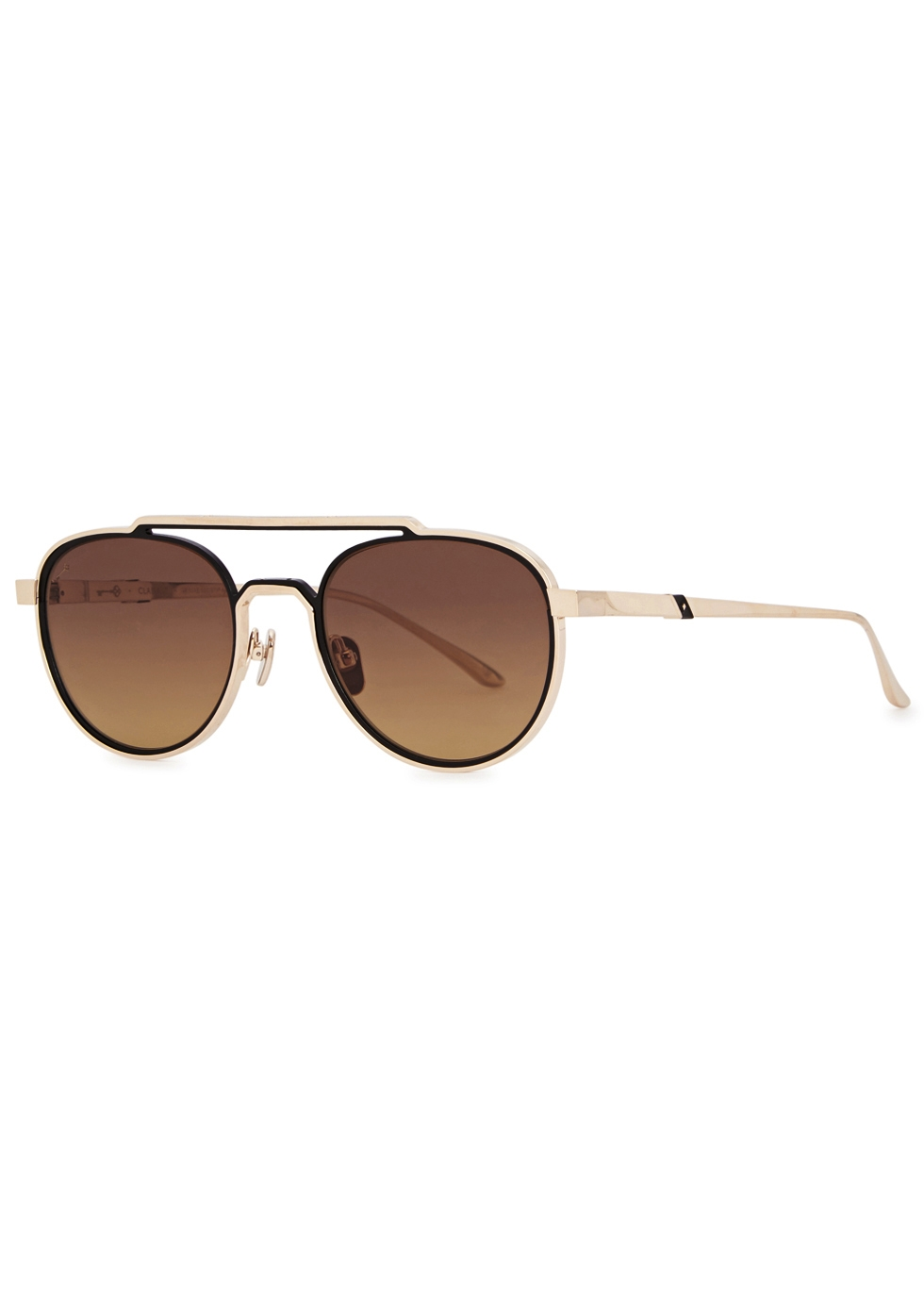 LEISURE SOCIETY CLAIRAUT 18CT GOLD-PLATED SUNGLASSES