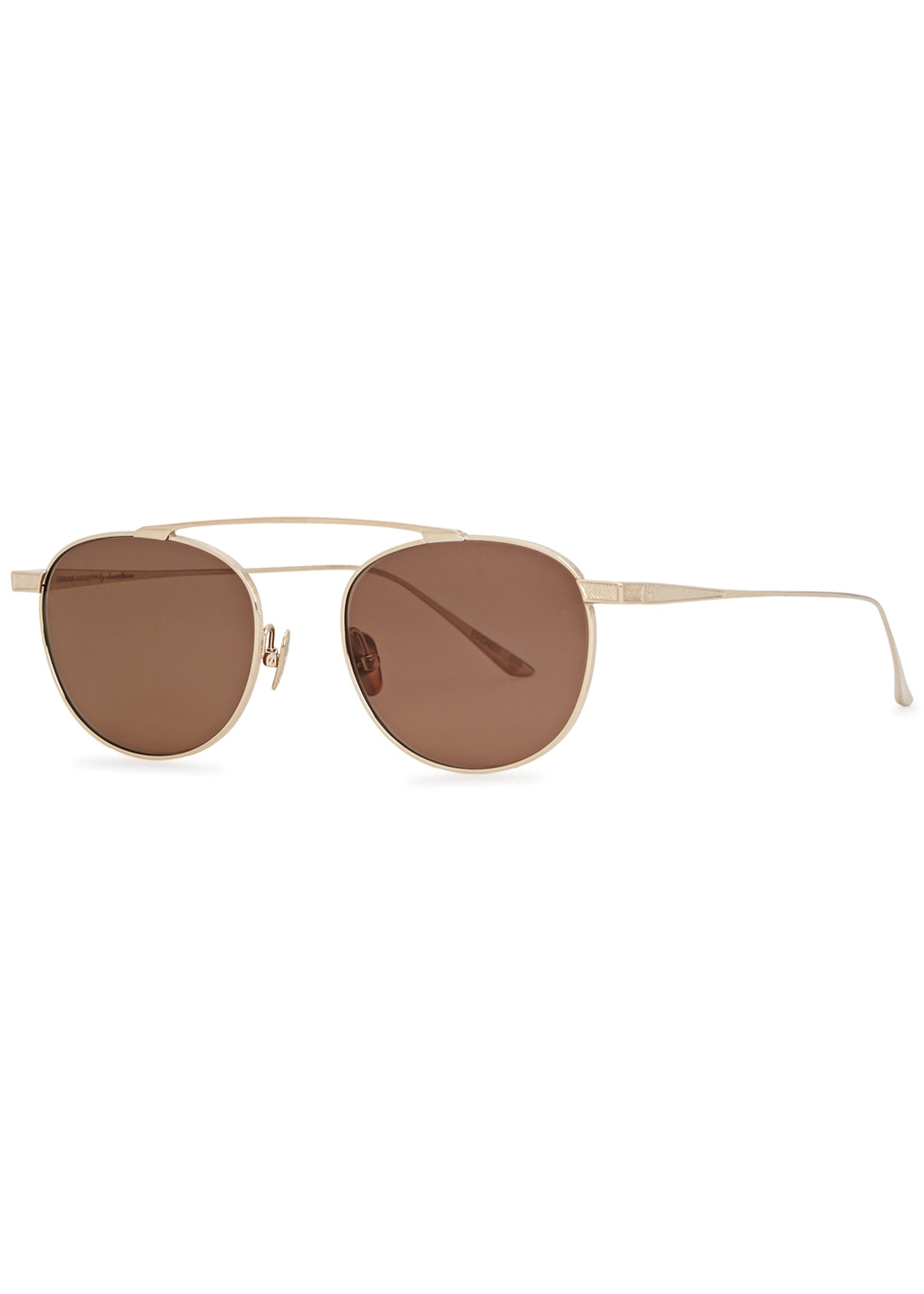 LEISURE SOCIETY ESCHER 18CT GOLD-PLATED SUNGLASSES
