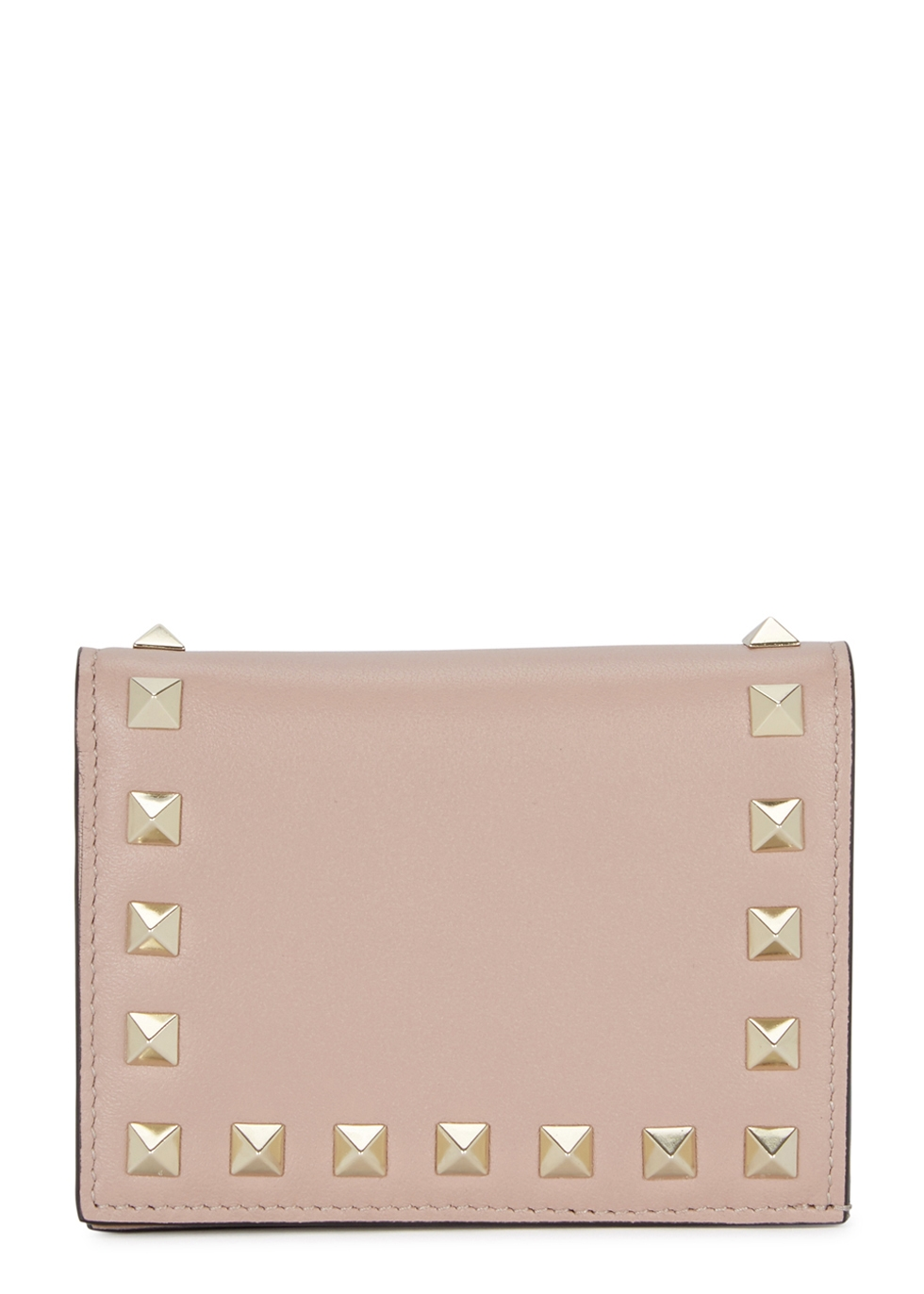 ROCKSTUD BLUSH LEATHER WALLET