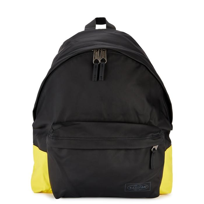 Eastpak Black Faux Leather Backpack  2bca00744f12a