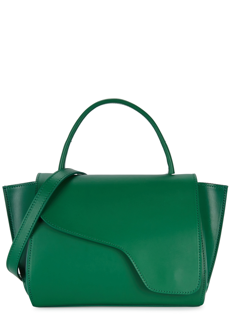 ATP ATELIER AREZZO GREEN LEATHER SHOULDER BAG