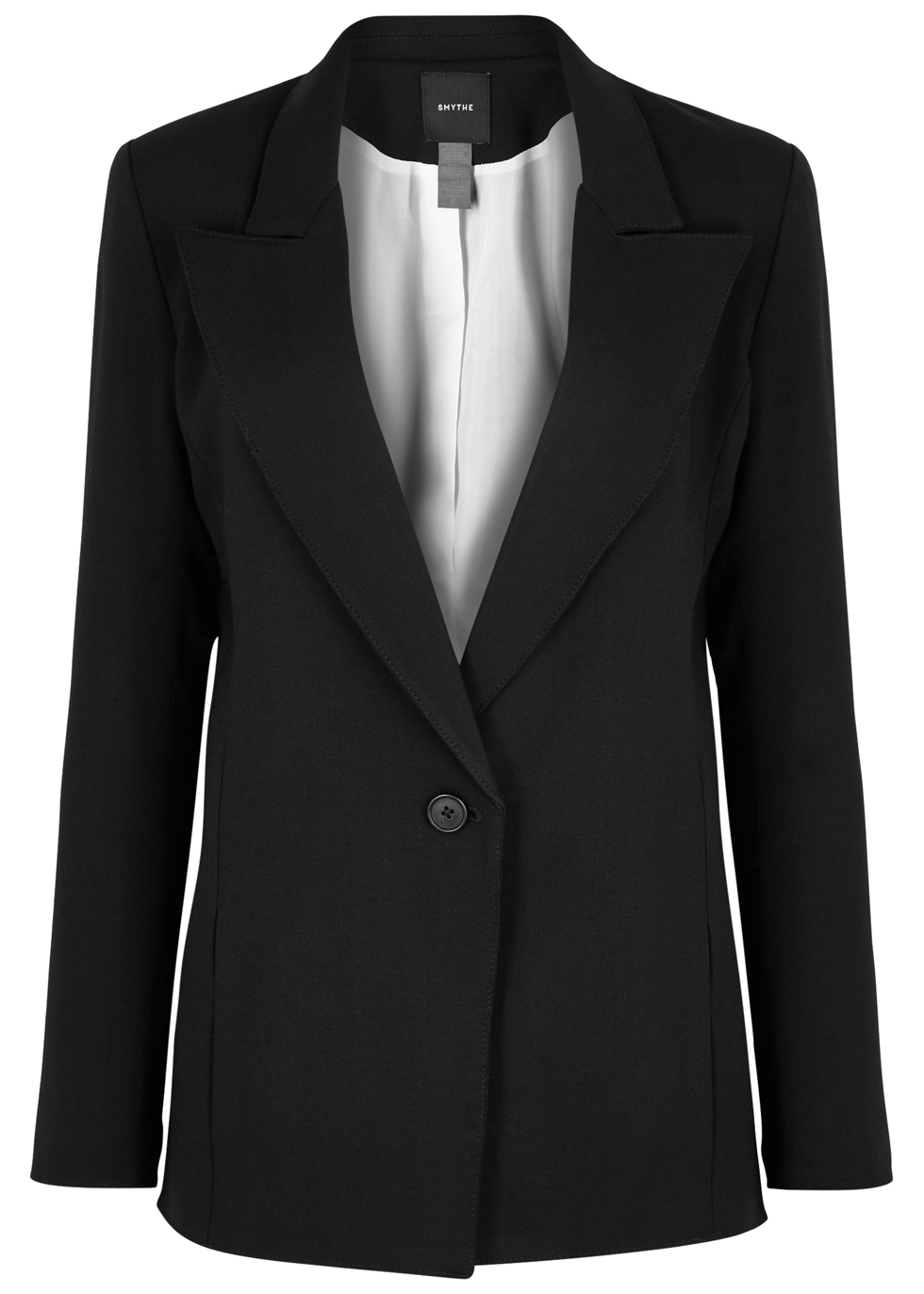 SMYTHE TABE BLACK STRETCH-CREPE BLAZER
