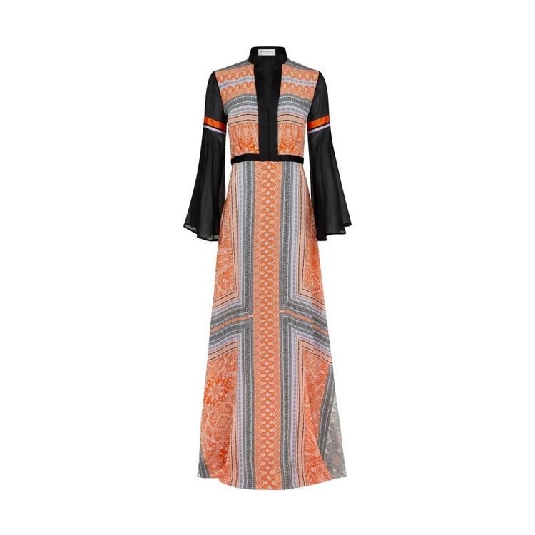 Amanda Wakeley CLEMENTINE & LILAC MAXI DRESS