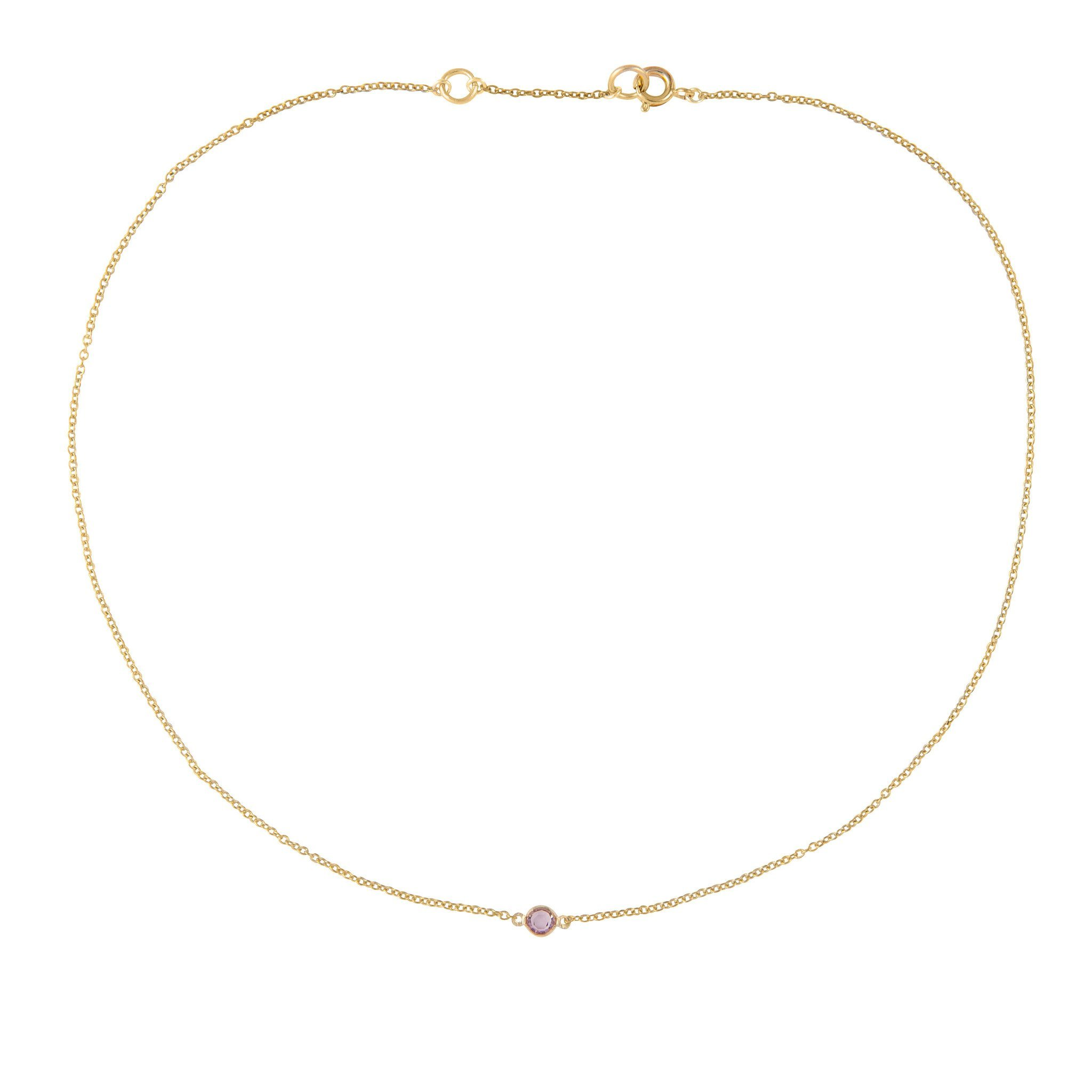 SUSAN CAPLAN CONTEMPORARY 18CT GOLD PLATED SINGLE SWAROVSKI CRYSTAL NECKLACE