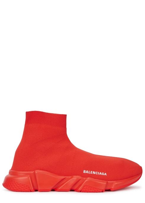 36a9a446ccbd1 Balenciaga Speed red stretch-knit trainers - Harvey Nichols