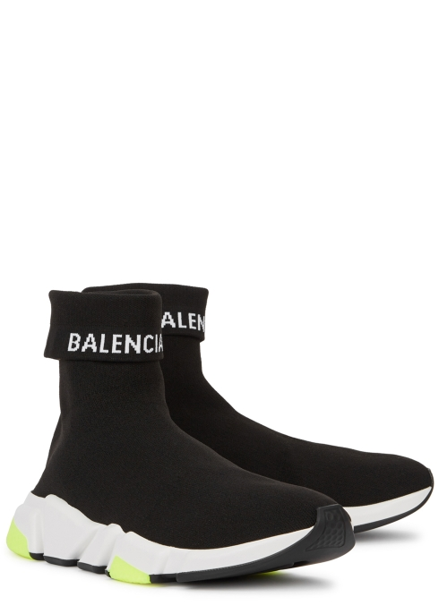 98d6d22836a Balenciaga Speed Cuffed stretch-knit trainers - Harvey Nichols