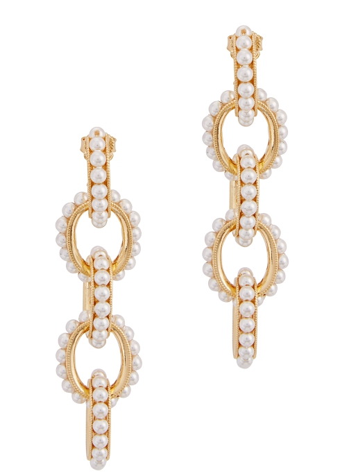 Gold Plated Drop Earrings Soru Jewellery