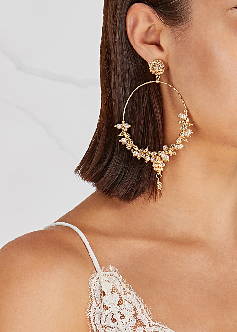 Soru Jewellery Mega 24kt Gold Vermeil Hoop Earrings