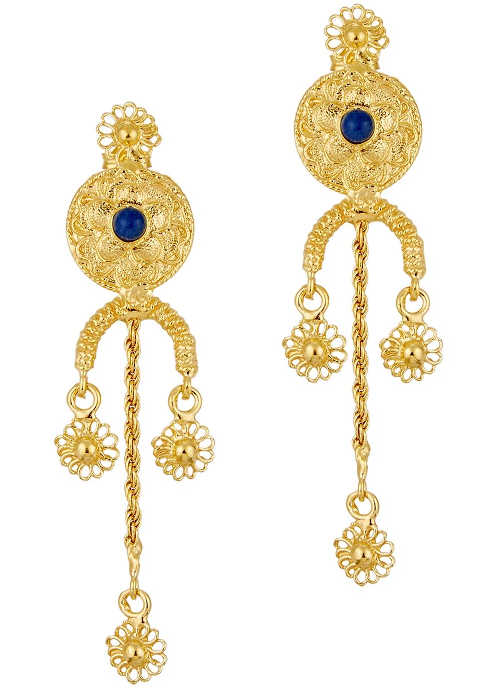 SORU JEWELLERY TREASURES 18CT GOLD-PLATED DROP EARRINGS