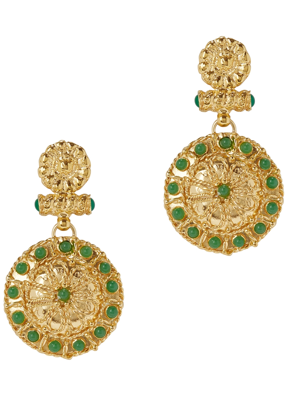 SORU JEWELLERY TREASURES 18CT GOLD-PLATED EARRINGS