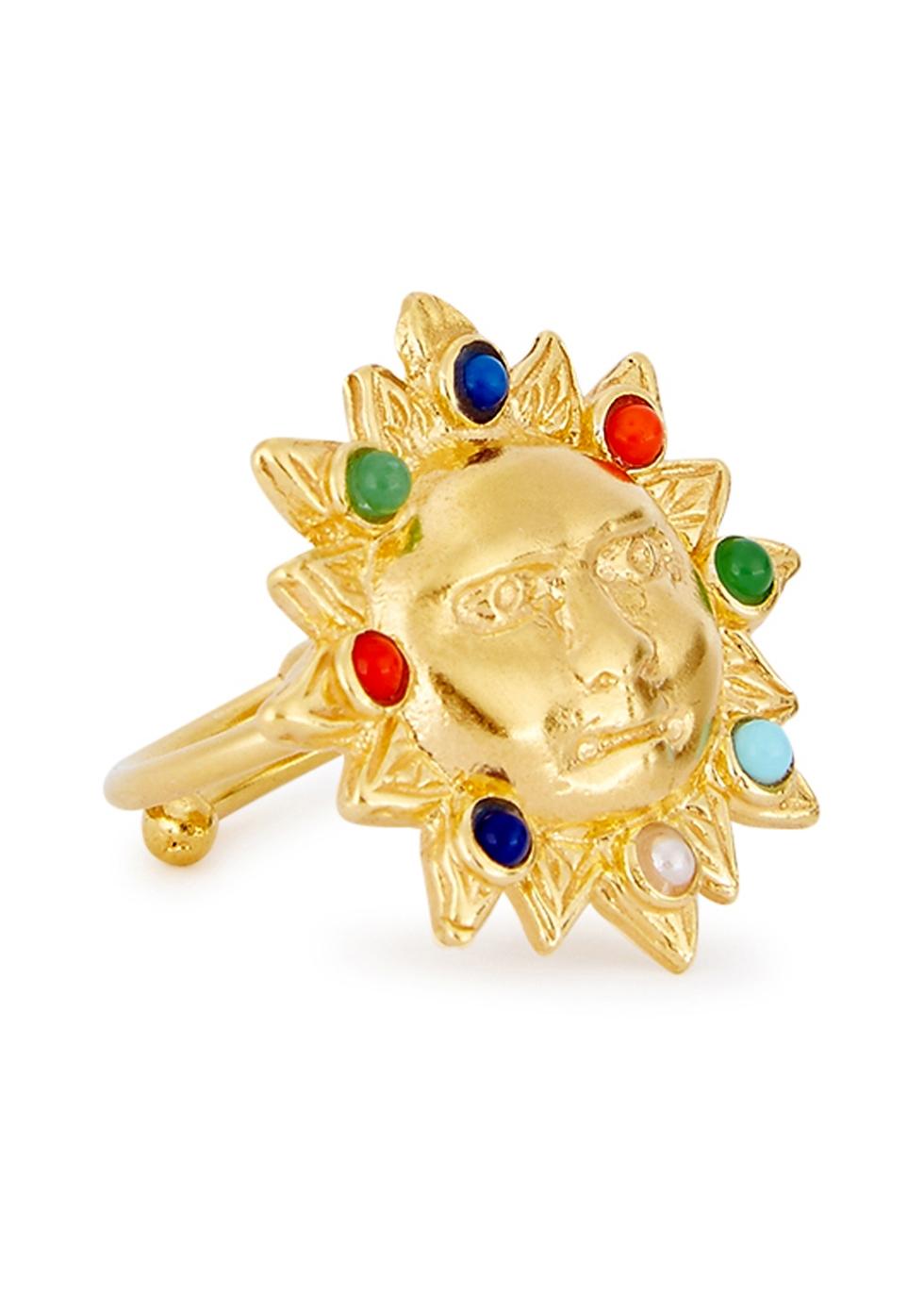 SORU JEWELLERY TREASURES 18CT GOLD-PLATED RING