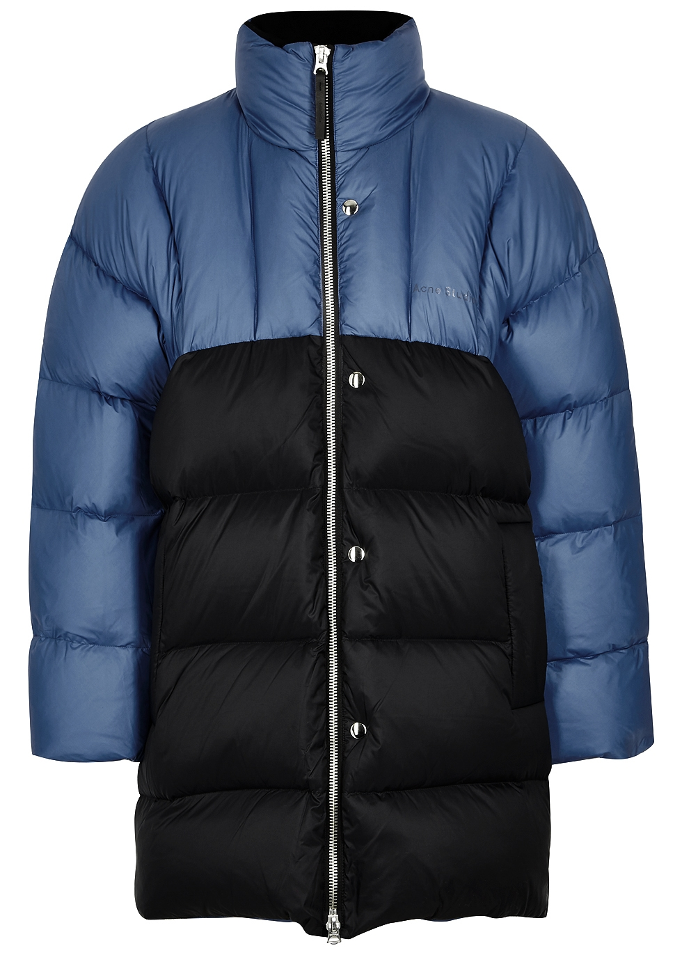 Acne Studios Two Tone In Blue Jacket Oversized Quilted Nylon Down rfagdrqxw