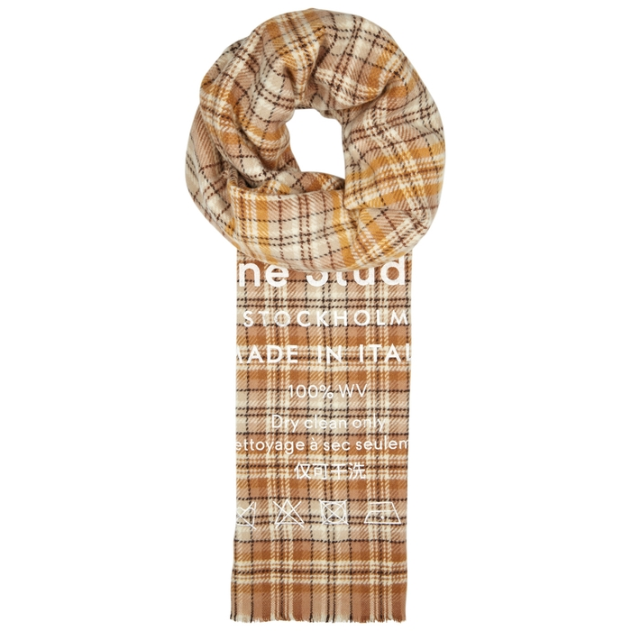Acne Studios Cassia Checked Wool Scarf