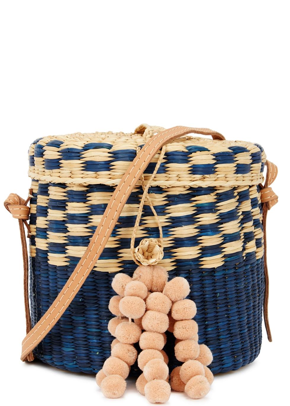 NANNACY ANA STRAW BUCKET BAG