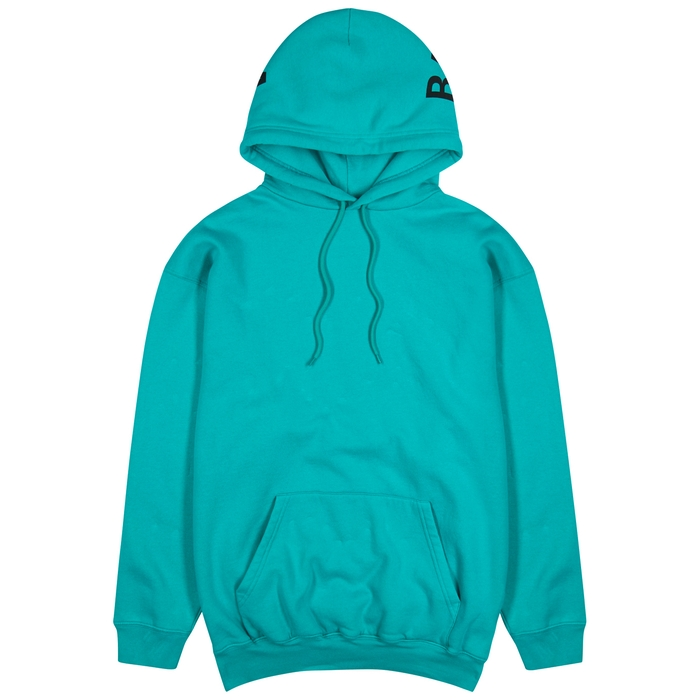 Balenciaga Logo-print Hooded Cotton-blend Sweatshirt