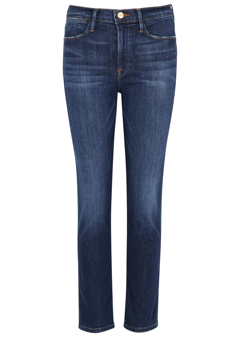 Le High Straight dark blue jeans