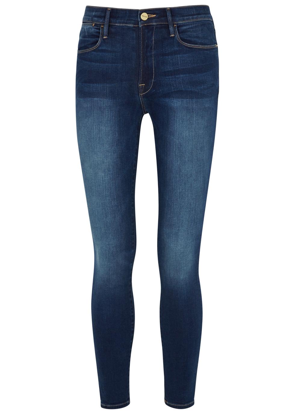 Le High Skinny dark blue jeans