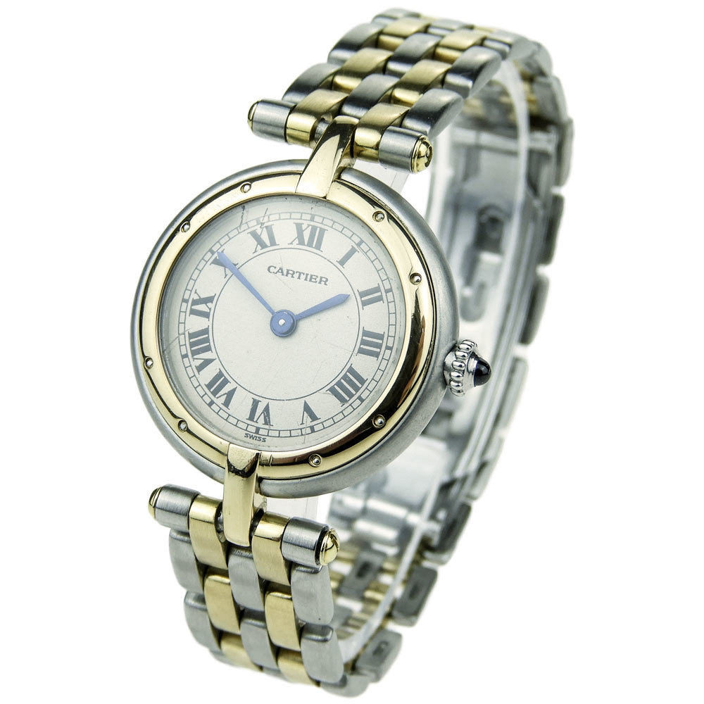 CARTIER LADY PANTHERE RONDE STEEL AND GOLD