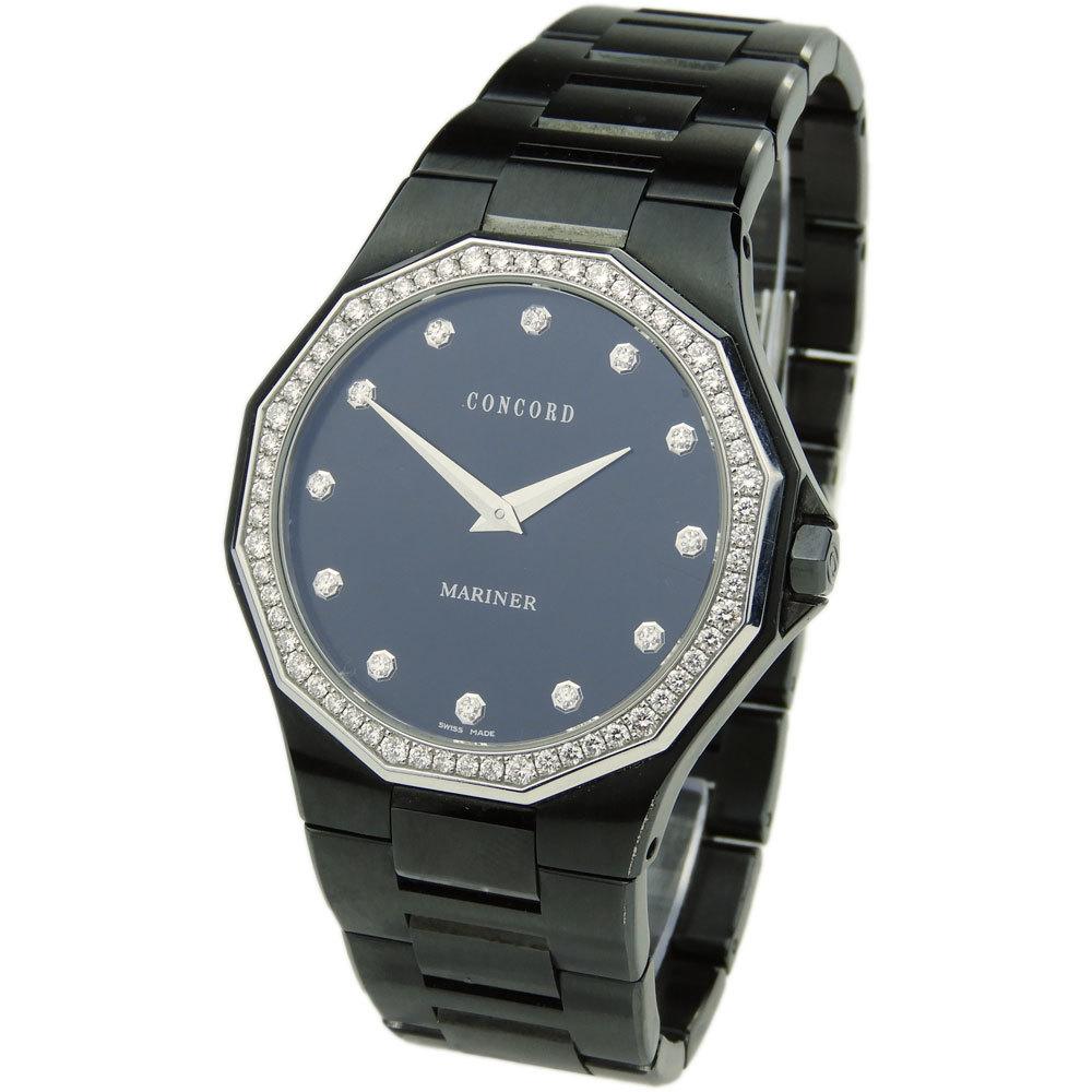 CONCORD WATCHES | Concord Watches Concord Mariner Diamond Set Quartz 14 E7 1891.3s | Goxip