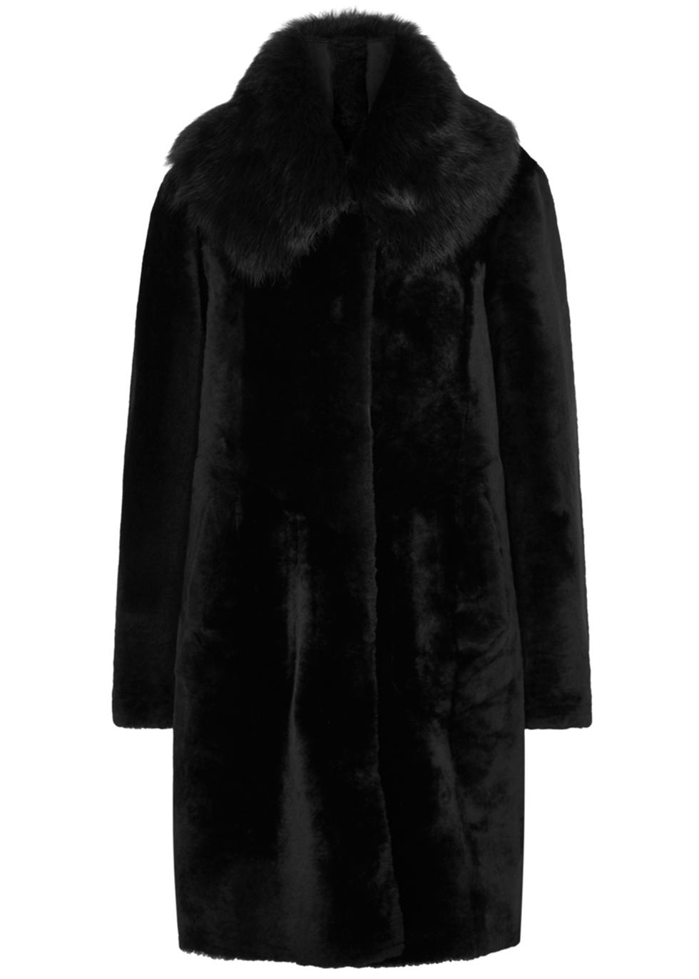 DOM GOOR X Mercer7 Black Reversible Shearling Coat