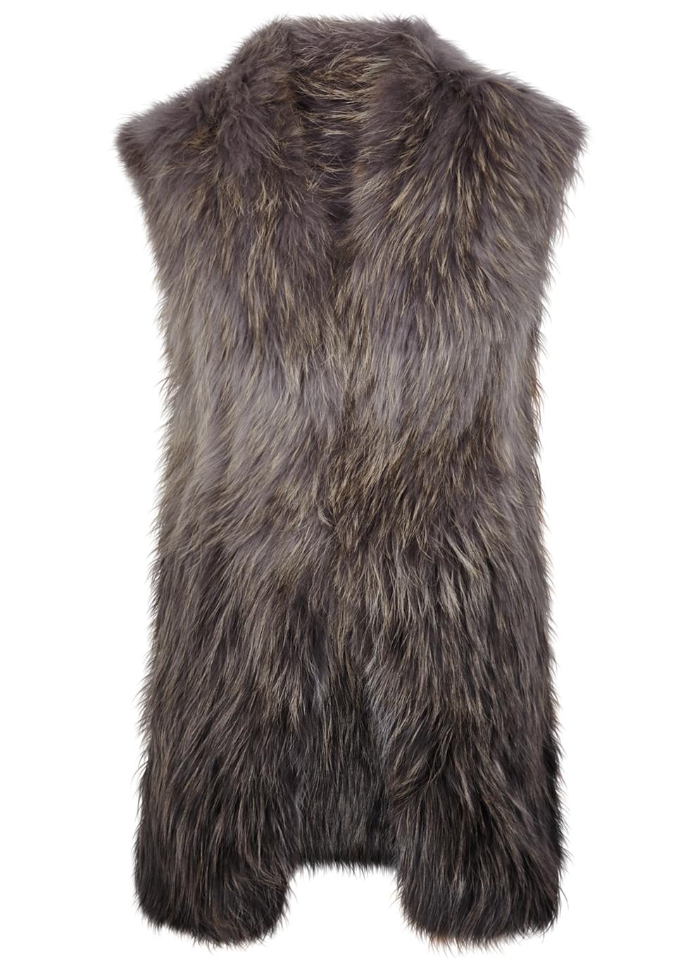 DOM GOOR Grey Dégradé Fur Gilet